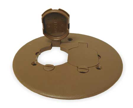 Floor Box Cover, Duplex, Bronze, PVC