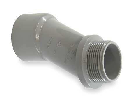 Meter Offset, 1-1/4 In., PVC, 4-1/4 In. L