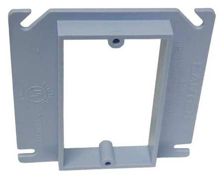 Plaster Ring, 1-Gang, 1/2 in. Riser, PVC