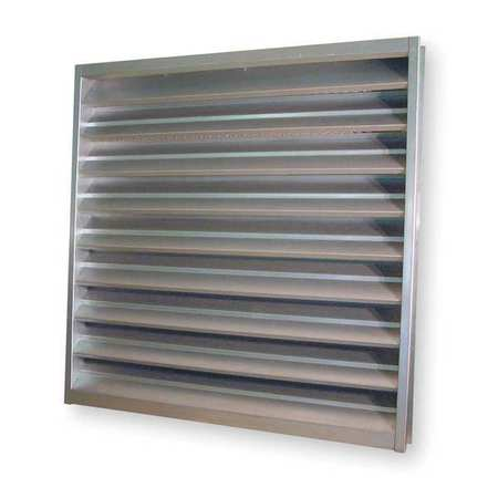 Louver, Wall Opening 48x48In, Galvannealed
