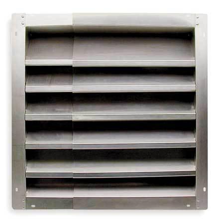 Louver, Intake, 21-36 In, Aluminum