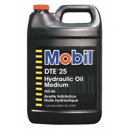 Mobil DTE 25,  Hydraulic,  ISO 46,  SAE Grade 20,  1 gal.