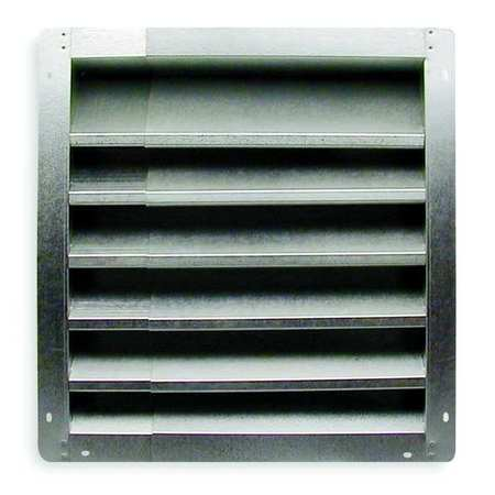 Louver, Intake, 12-18 In, Galvanized Steel