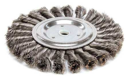 Twist Wire Wheel Wire Brush,  Arbor,  6""