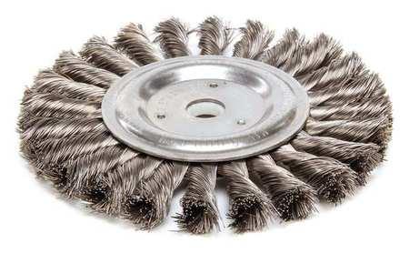 """Twist Wire Wheel Wire Brush,  Arbor,  6"""""""