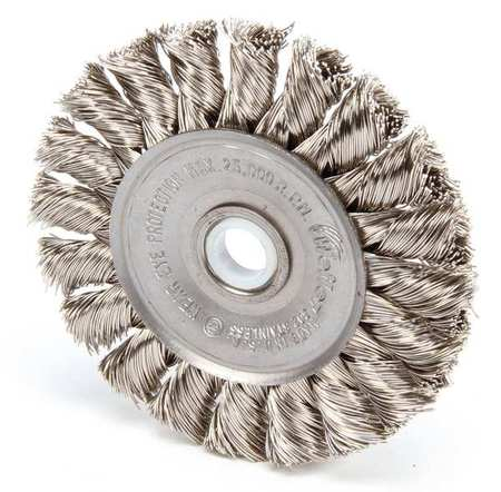 Twist Wire Wheel Wire Brush,  Threaded Arbor