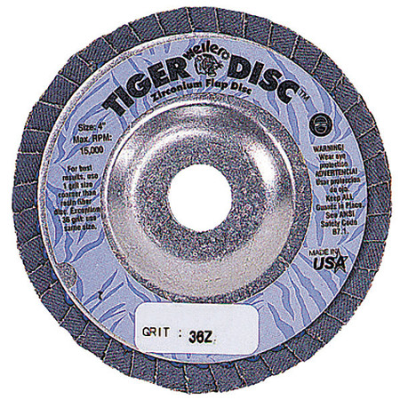 Arbor  Flap Disc, 4-1/2, 24, Extra Coarse
