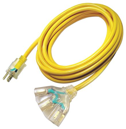 25 ft. 12/3 3-Outlet Extension Cord SJTOW
