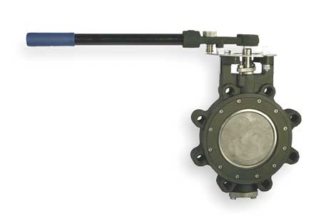 Butterfly Valve, 6 In, RPTFE Liner, Lever