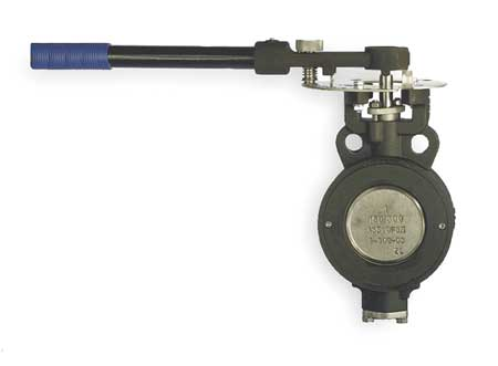 Butterfly Valve, Wafer, 4 In, RPTFE Liner