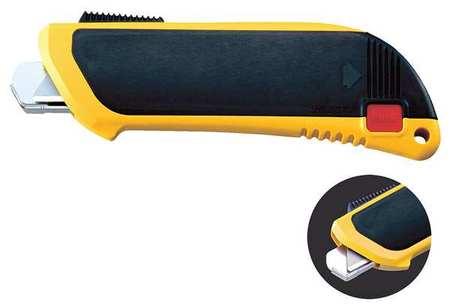 Safety Knife, 5-1/2 in., Yellow