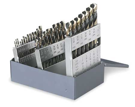 Mechanics Drill Set, 3/8 Shank, 29 PC, HSS