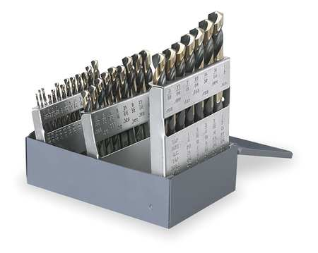 Mechanics Drill Set, 29 PC, HSS, 135 Deg