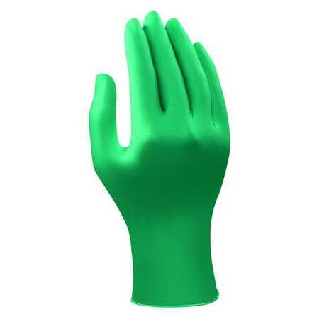 Disposable Gloves, Nitrile, L, Teal, PK100