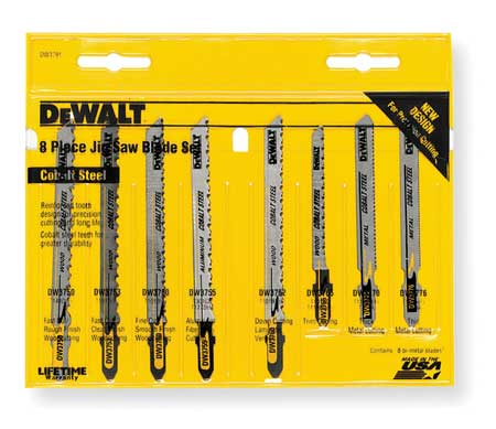 Jigsaw Blade Set, T-Shank, 3, 4 In. L