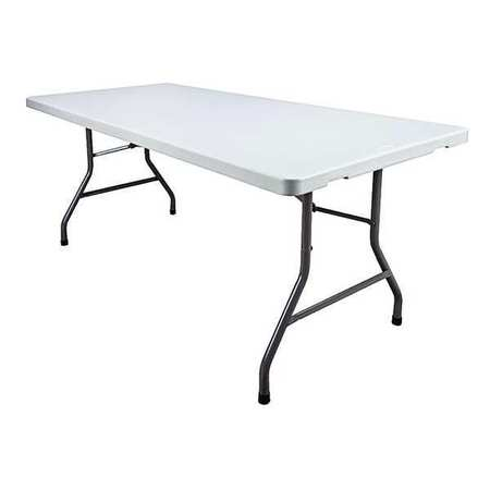 "Rectangle Folding Table,  30""D x 72""W x 29-1/4""H,  White"