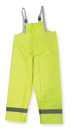 Hi-Vis Rain Bib Overall, Yellow/Green, XL