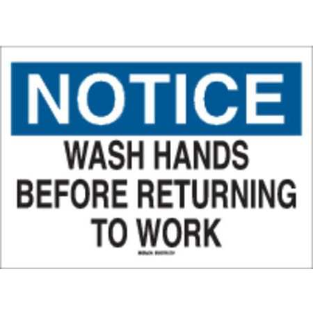 Notice Sign, 7 x 10In, BL and BK/WHT, PLSTC