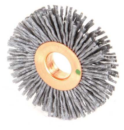 "Wire Wheel Wire Brush,  Arbor,  2"",  3/8"" W"