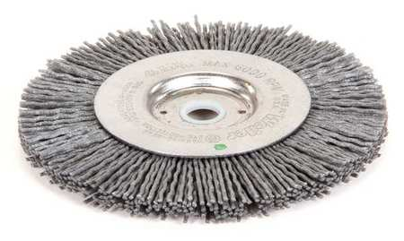 Wire Wheel Brush, Arbor, 4 In., 1/2 In. W