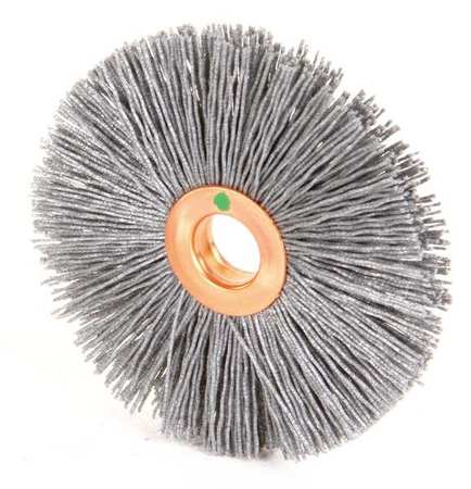 "Wire Wheel Wire Brush,  Arbor,  3"",  1/2"" W"