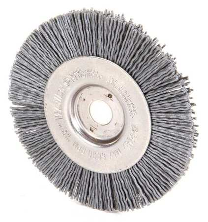 "Wire Wheel Wire Brush,  Arbor,  4"",  1/2"" W"