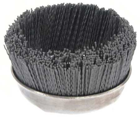 "Cup Wire Brush,  Threaded Arbor,  5"",  8000 RPM"