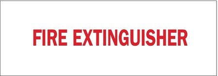 Fire Extinguisher Sign, 3-1/2 x 10In, FEXT