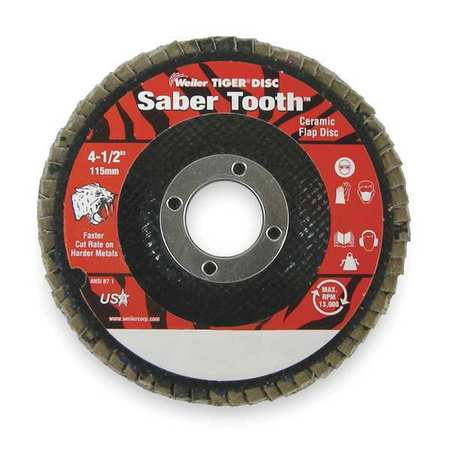 Arbor Mount Flap Disc, 4-1/2in, 80, Medium