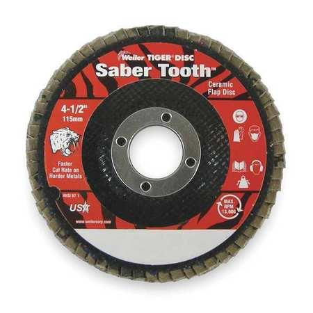 Arbor  Flap Disc, 4-1/2, 36, Extra Coarse