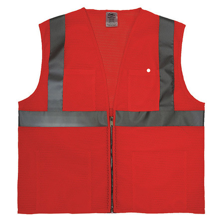 5XL Class 2 Cool Dry High Visibility Vest,  Orange