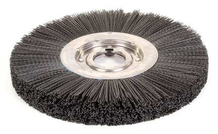 "Wire Wheel Wire Brush,  Arbor,  12"",  0.043"""