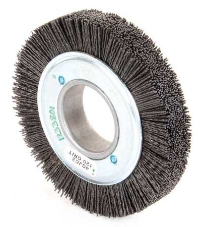 "Wire Wheel Wire Brush,  Arbor,  6"",  3/4"" W"
