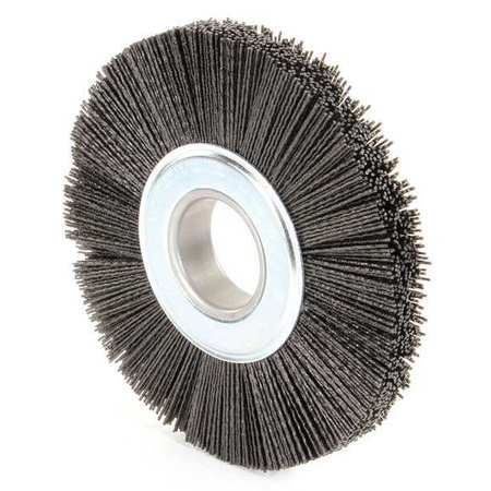 "Wire Wheel Wire Brush,  Arbor,  8"",  7/8"" W"