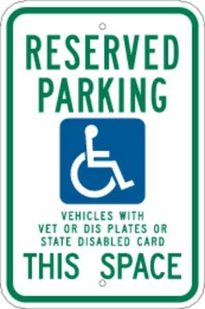"Parking Sign, 18x12"", Reserved Parking"