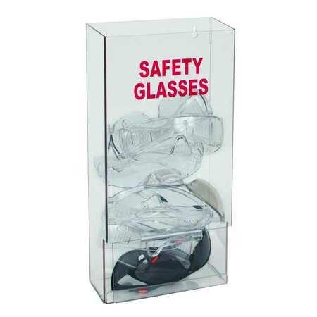 Prot Eyewear Disp, Stk, Clr, PETG, Wall Mtg