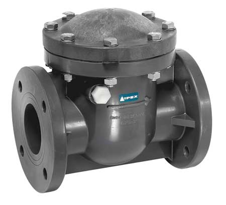 Swing Check Valve, PVC, 3 In., Flanged
