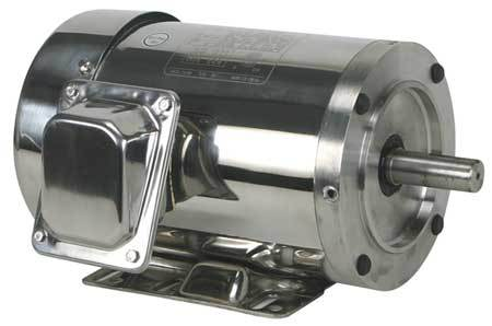 Washdown Motor, 3 Ph, TEFC, 2 HP, 1750 rpm