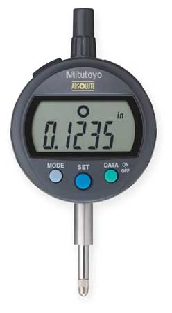 Mitutoyo 543-402B,  Digimatic Indicator,  Series 543,  ID-C1012EXB,  Resolution .0005\u0022/0.01mm,  Accuracy .001\u0022,  Range .5\u0022 / 12.7mm,  Bezel Rotates 330 Degrees,  Features With SPC Data Output,  Includes Battery