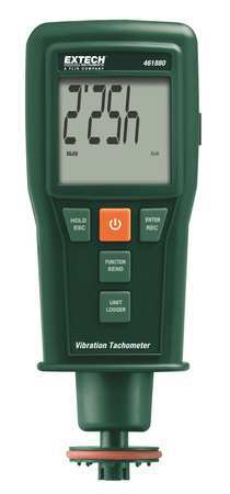 Laser Tachometer, 0.5 to 19, 999 rpm