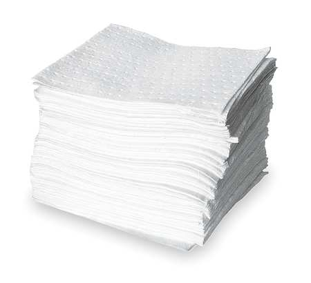Absorbent Pads, 21.6 gal., 18 In. L, PK100