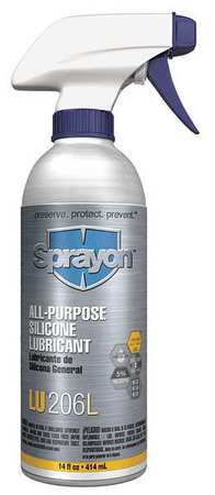 All Purpose Silicone Lube, Non Aerosol, 14