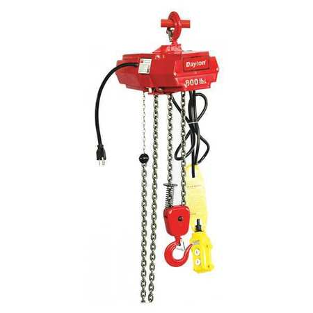 Electric Chain Hoist, 800 lb., 20 ft.