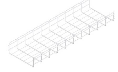 Cablofil Wire Mesh Cable Tray, 12x4In, 10 Ft CF105/300EZ | Zoro.com