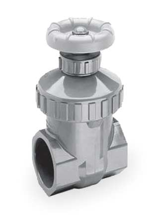 Gate Valve, 1/2 In., Socket Weld, PVC