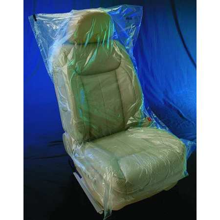 Seat Cover, Roll, Plastic, PK250