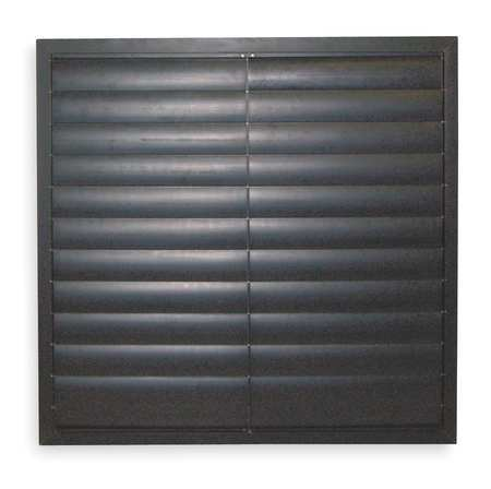 Exh Shutter, Agricultural, 16 In, Black PVC