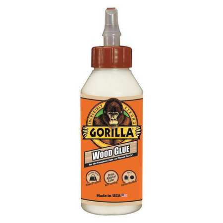 Wood Glue, 8 Oz Btl, Coverage 12 Sq Ft