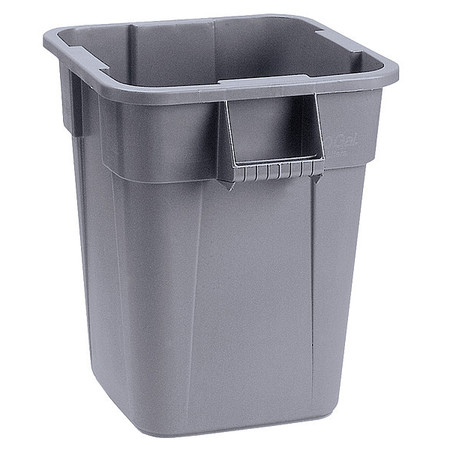 40 gal.  Square  Gray  Trash Can