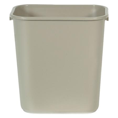 7 gal.  Rectangular  Beige  Trash Can